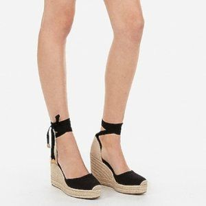 NWT Express Closed Toe Espadrille Wedges